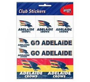Official AFL Adelaide Crows Club Sticker Sheet Pack