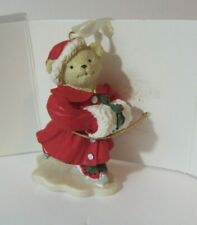 Vintage Muffy Furrier & Ives Christmas Holiday Ornament Bear Ice Skating    DCA