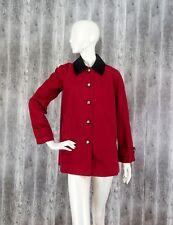 Ralph Lauren Womens Red Jacket Coat Corduroy Equestrian Horse Riding size S