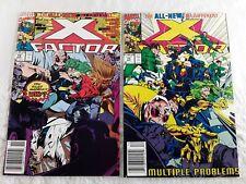 X Factor Comic Books #72 #73 1991 Marvel Comics