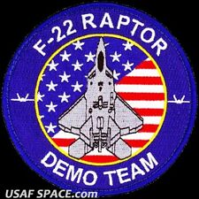 USAF 1st FIGHTER WING -F-22 DEMONSTRATION TEAM- Langley AFB, VA - ORIGINAL PATCH