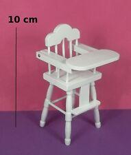 chaise haute pour bébé miniature,maison de poupée,vitrine,ameublement,meuble