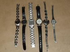 Ladies Wrist Watch Lot of 6 Q&Q Denacci DMC ESQ Relic Gruen For Parts or Repair