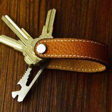 Leather Keychain Leder Flaschenöffner Multifunktionaler Schlüsselbund Aus Echtem