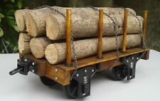 G Scale Flat Car with log load - Suitable For SM32/SM45 Gauges