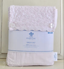 Rachel Ashwell Simply Shabby Chic Pink Embroidered Eyelet Lace QUEEN Sheet Set