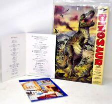 BRITISH AIRWAYS MENU CARDS & Dinosaur Card Model Hamley's Skyflers England 1995