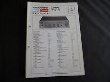 Original Service Manual  ITT Graetz  Manual Hifi 2440
