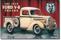 1939 Ford Truck Metal Tin Sign Garage Bar Man Cave Home Wall Decor New