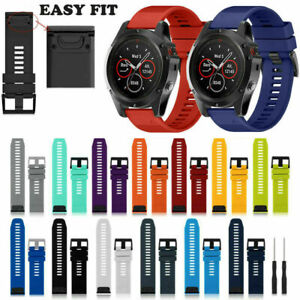 For Garmin Fenix 3 5 5X 5S 6 6X 26mm Soft Silicone Watch Band Strap Replacement