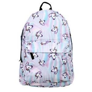 Fashion 3D Unicorn Backpack Rainbow College School Bag Girls Rucksack Satchel