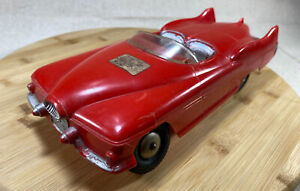 Vintage Marx Toy Red Friction Convertible Coupe Car! Rare Futuristic Body, WORKS