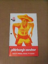1970 Pittsburgh Condors (ABA) Media Guide, John Brisker on Cover, Clean