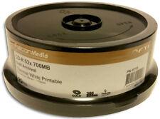 25-Pak FalconMedia ARCHIVAL GOLD White Thermal Hub Printable 52X 80-Min CD-R's
