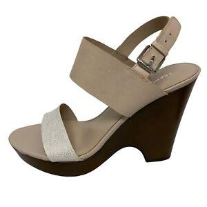 Franco Sarto Georgette women's chunky heel sandals buckle size 10M