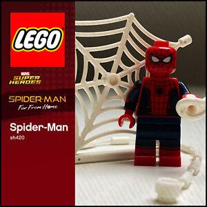 GENUINE LEGO Marvel Minifigure Spider-Man sh420 Far from Home 76130 76083 76082