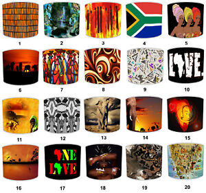 African Ladies Tribal Lampshades To Match Bedding Duvets Curtains Cushion Covers