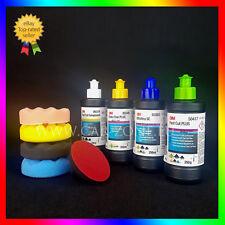 3M Ultrafina+Fast Cut Plus+Extra Fine+Fast Cut C.+4x Esponjas+Soporte para pulir