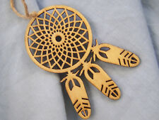 DREAMCATCHER ~ WOODEN _ CAR _ CHARM -- (GREAT _ CHRISTMAS _  GIFT)