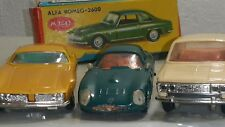 VINTAGE FIAT ISO GRIFO ALFA ROMEO TOY CARS MADE IN USSR METAL HARD PLASTIC 1/43