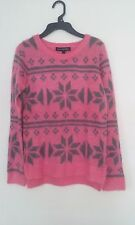 New Derek Heart Girl Pink Gray Soft Acrylic Knit Sweater Size L-14