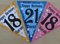 Handmade Personalised 21st/ 18th/ any age bunting / party decoration / birthday