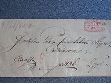 GRAN SELLO LACRE PRUSIA NOBLEZA LANDRECHT PREFILATELIA SOBRE CARTA AÑO 1870