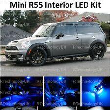 BLUE PREMIUM MINI COOPER S JCW CLUBMAN R55 INTERIOR FULL UPGRADE LED LIGHT KIT
