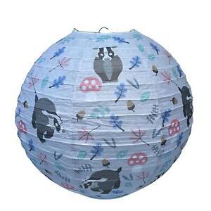 WILDLIFE BADGER PAPER LANTERN LAMP SHADE KIDS CHILDRENS BEDROOM CONSERVATORY