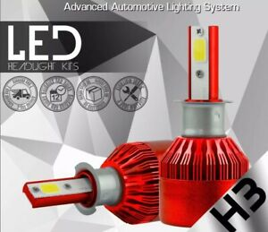 5000k H3 Size LED Car Truck Headlight Bulbs HID 5k White Xentec  Fog 2x Bulb