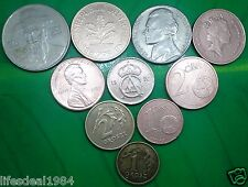 worldwide mixed countries 10 different coins lot for coin and note collector # 2