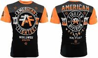 AMERICAN FIGHTER Mens T-Shirt SILVER LAKE Athletic BLACK Biker Gym MMA $40