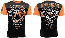 American Fighter Mens S/S T-Shirt SILVER LAKE Black Neon Orange S-3XL $40