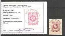 Memelgebiet Mi-Nr.: 149  Spitzenwert  sauber auf Briefstück Befund Huylmans.BPP