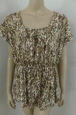 Calvin Klein Jeans Brown Scoop Neck Sleeveless Top Blouse Woman Plus Size 1X