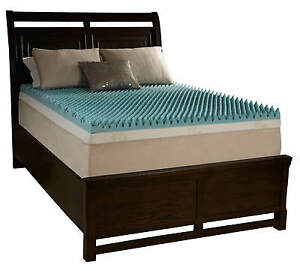 """3"""" Cal King Egg Crate Foam Mattress Topper Beautyrest Gel Infused Memory Bed Pad"""