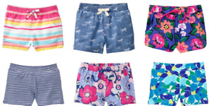 Gymboree Little Girls Cotton Play Shorts NEW Tags Size XS 4 4T Choose Style