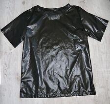TS Glanznylon T-Shirt XS-3XL Farbauswahl schwarz, marineblau, grau, blau, rot