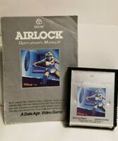 Airlock (Atari 2600, 1982) Rare Game cartridge and manual-AUTHENTIC
