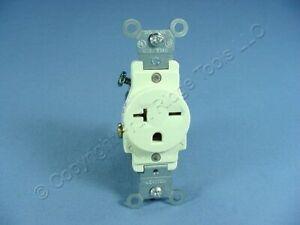 Leviton Almond COMMERCIAL Single Outlet Receptacle NEMA 6-20R 20A 250V 5821-A