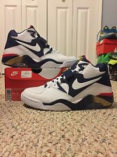 2016 NIKE AIR FORCE 180 sz 11.5 OLYMPIC GOLD CB94 BARKLEY PIPPEN MORE UPTEMPO QS
