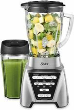 Oster Blender Pro 1200 with Glass Jar, 24-Ounce Smoothie Cup, Brushed Nickel