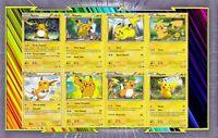 🌈Lot de 8 cartes Pikachu et Raichu différentes Françaises Neuves - Pokemon - E