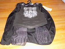 Boy's Size Small 4-7 Knight Wolf Halloween Costume Cape Shirt w Armor Leg Guards