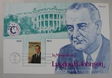"FDC Lyndon Johnson Fleetwood Presentation Card 6"" x 9"""