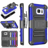 Black Belt-clip Holster Heavy Duty Case Samsung Galaxy S7 /S7 Edge /S7 Active