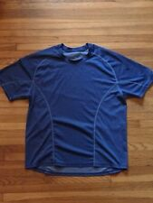 Men's New Balance Workout Running Shirt Blue Medium Euc