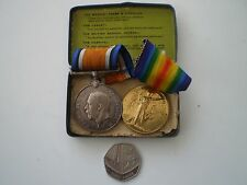 WW 1 British Pair of Medals Awarded to 236019 Pte. L. Layton Lanc. Fusiliers