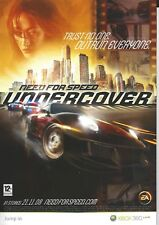 Need FOR SPEED UNDERCOVER-ORIGINALE 2008 eleganti 1-PAGINA DELLA RIVISTA ad-XBOX 360