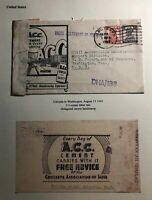 1943 Calcutta India Advertising Censored Cover To Washington DC USA